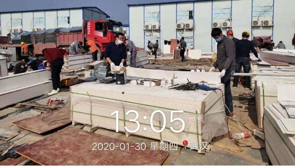 湖北 | 武汉火神山医院新风系统使用大川专利风管-SWG镁质高晶风管